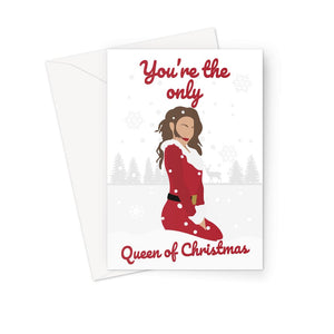 You're the only Queen of Christmas Mariah Carey All I want Fan Art Xmas Gift Greeting Card