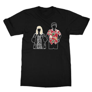 Alyssa and James (Big Print) TV Love Gift Birthday Anniversary The End World Line Art Softstyle T-Shirt