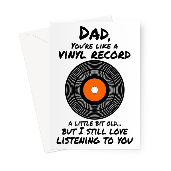 Dad vinyl custom father's day Greeting Card