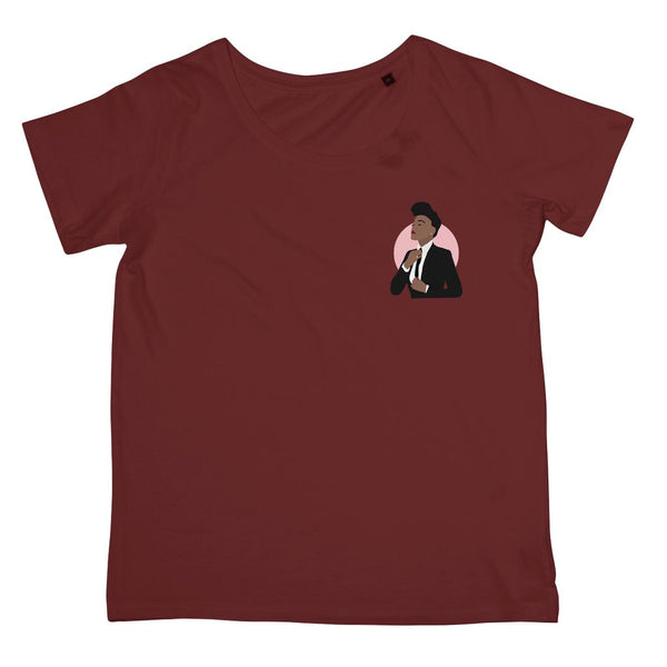 Musical Icon Apparel - Janelle Monae Women's Fit T-Shirt (Left-Breast Print)