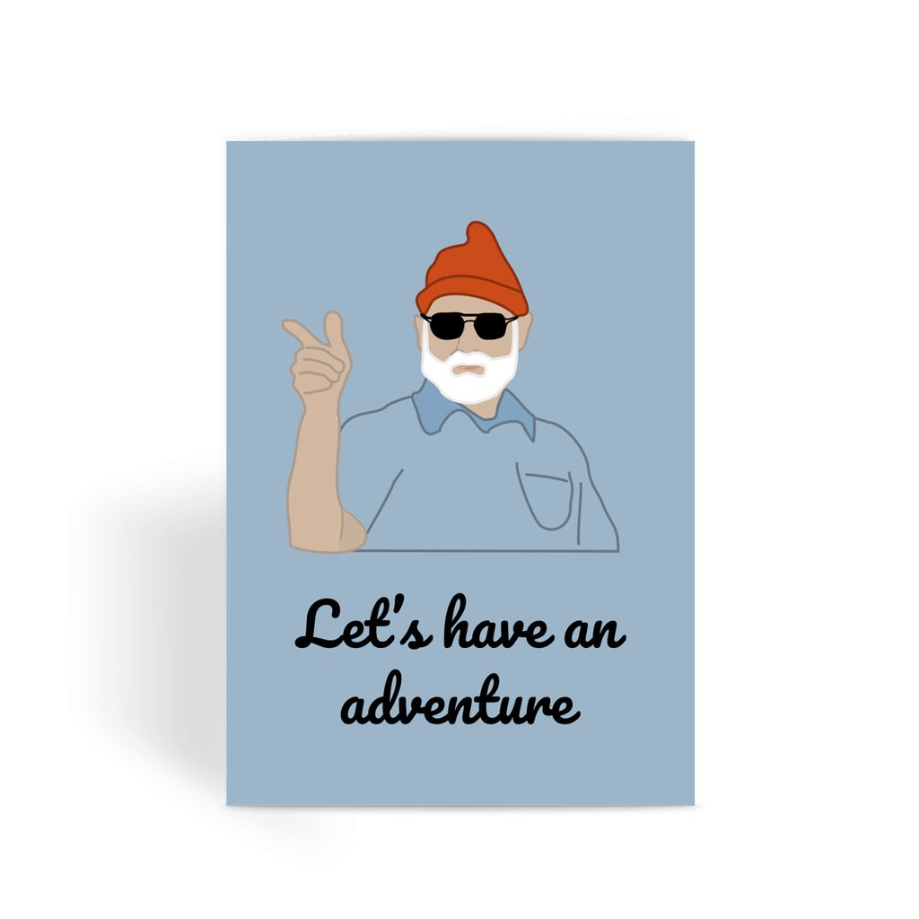 Life Aquatic Greetings Card - 'Let's Have An Adventure'