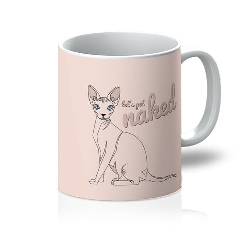 Nature Collection Homeware - 'Let's Get Naked' Hairless Cat/Sphynx Mug