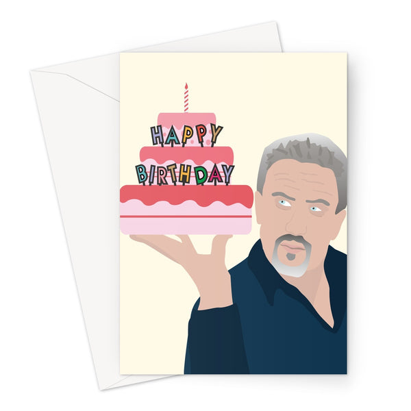 Happy Birthday Cake - Bake Off Paul Hollywood Fan Star Baker Funny Love Birthday Anniversary Biscuit Quote Tent TV Greeting Card