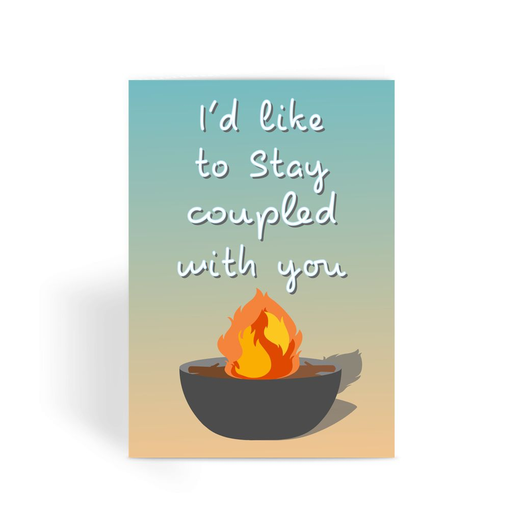 Love Island Greetings Card - 'I'd Like To Stay Coupled With You'