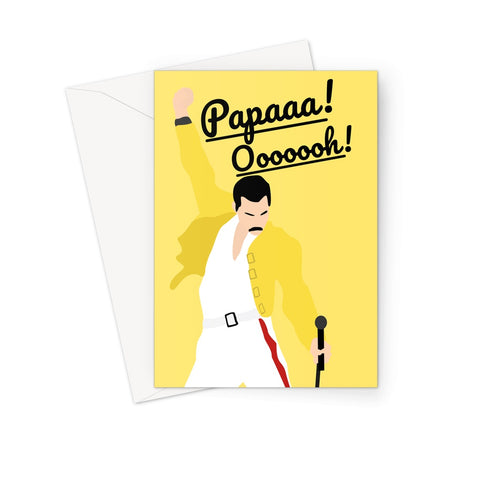 Freddie Mercury Father's Day Card (Queen, Bohemian Rhapsody Birthday Card)