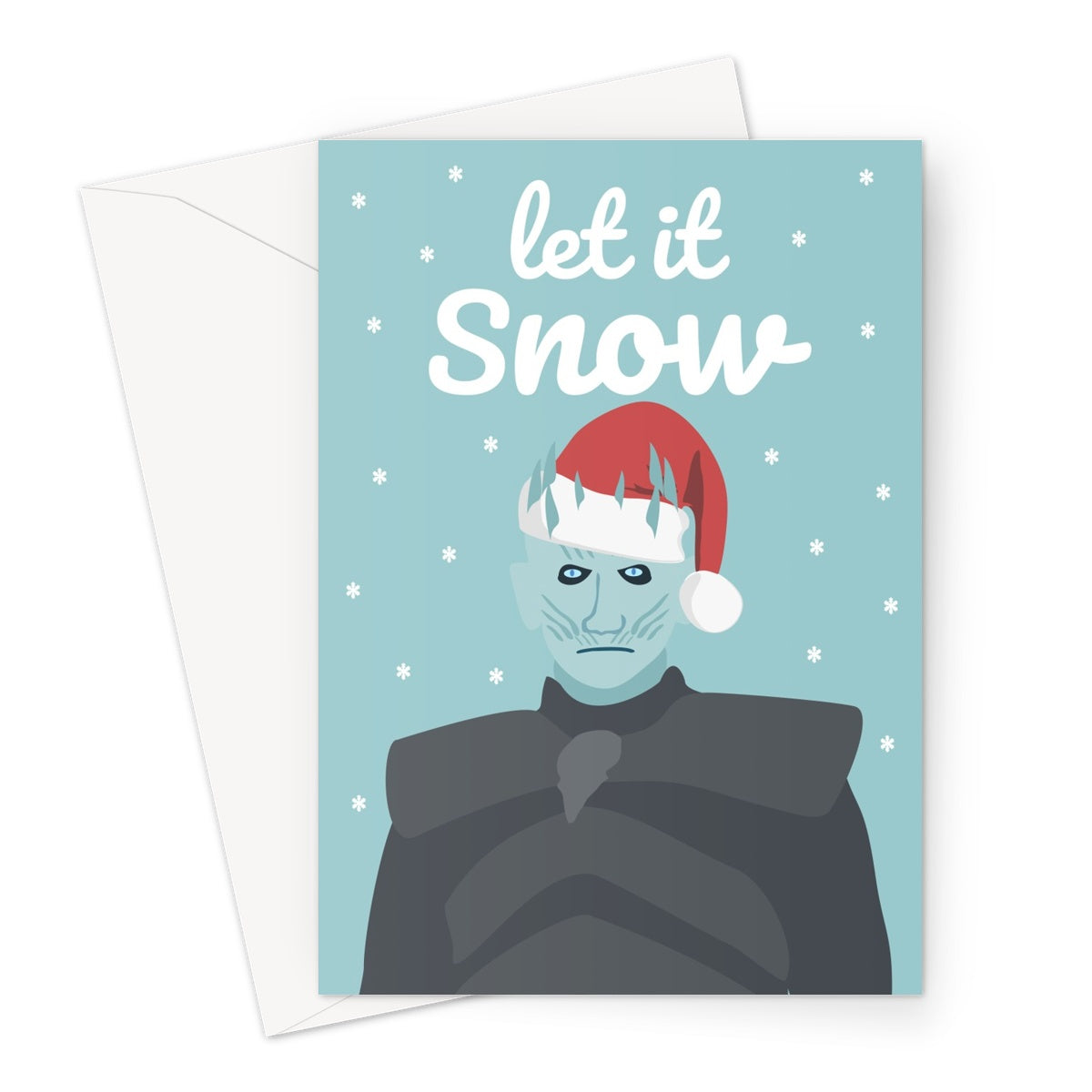 Let it Snow The Night King Fan Funny Christmas Greeting Card