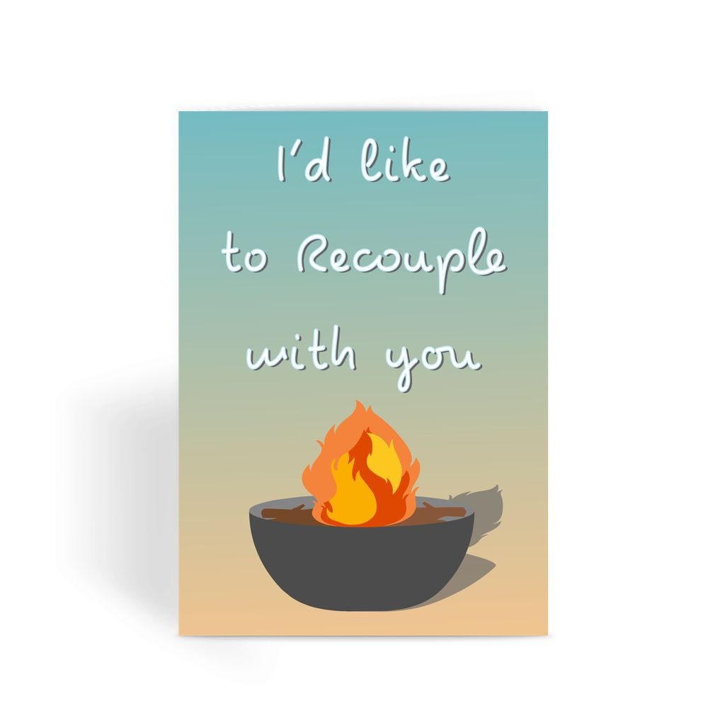Love Island Greetings Card - 'I'd Like To Recouple With You'