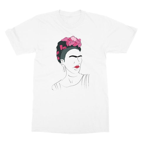 Frida Kahlo Hand Drawn T-Shirt (Cultural Icon Collection, Big Print)