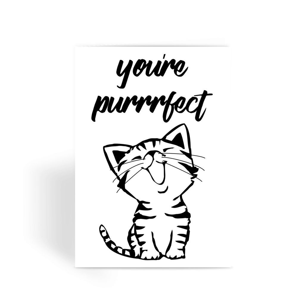 Nature Collection Greetings Card - 'You're Purrfect' Cute Kitten Card