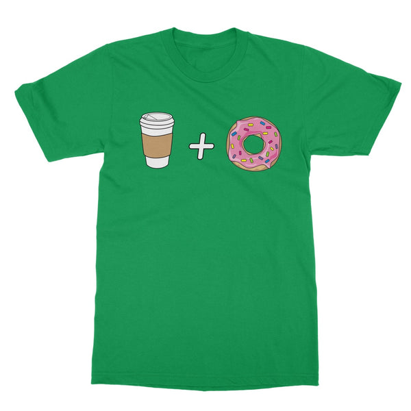 Foodie Collection Apparel - Coffee and Donuts T-Shirt (Big Print)