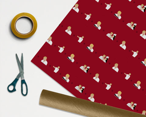 Gordon Ramsay Wrapping Paper - 1M ROLL - Anniversary Birthday Gift Wrap Christmas Xmas Chef Hells Ramsey Fan Funny Oi Panini Idiot Sandwich