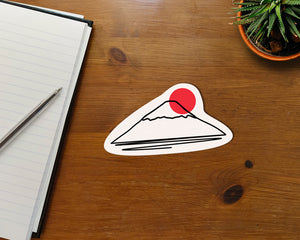 "Mt Fuji Minimalist Waterproof Sticker Vinyl Kisscut 3x4"" Gift Birthday Skateboard Laptop Notebook Nature Japan Mount Japanese Cute Kawaii"