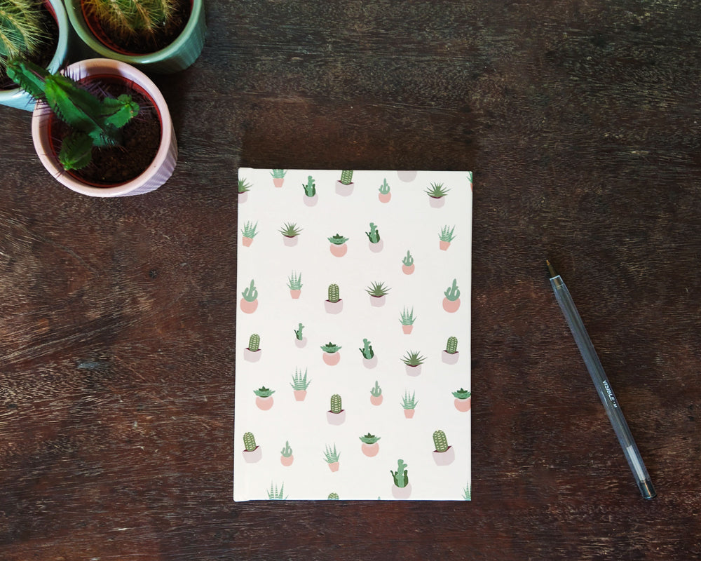 Succulents Hardcover Journals Notebook Blank / Ruled / Grid Cactus Plants Cute Fan Love Birthday Anniversary Gift Garden Nature Succulent