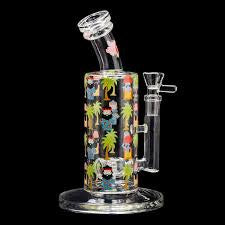 "Cheech & Chong Glass 10"" Weekday Bubbler w Full Wrap Decal"