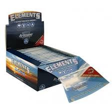 "Elements Artisano Ultimate Thin Rice Rolling Papers w/ Tips & Tray 1 1/4"" 50PK"