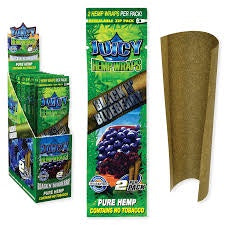 Juicy Jay Hemp Wraps Black n Blueberry 2 PK
