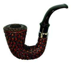 Carved Hungarian  Calabash Rosewood Pipe
