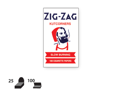 Zig Zag Cutcorners White Slow Burn Rolling Papers 100PK
