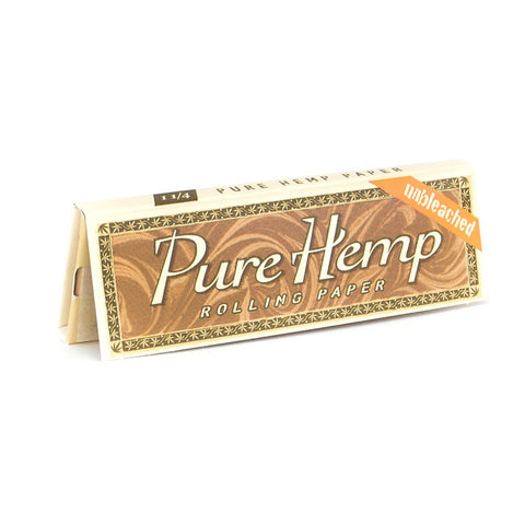 "Pure Hemp Unbleached Rolling Papers 1 1/4"" 50PK"