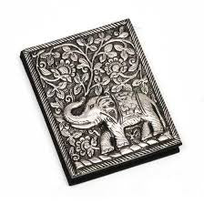 Metal Cover Elephant Notebook