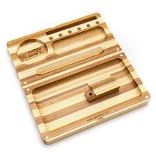 Raw Bamboo Striped Backflip Filling Tray w/ Magnet