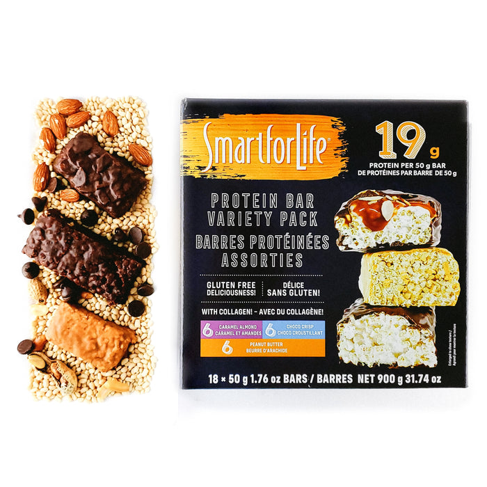 Low Sugar Protein Bar Variety Pack 18 Ct