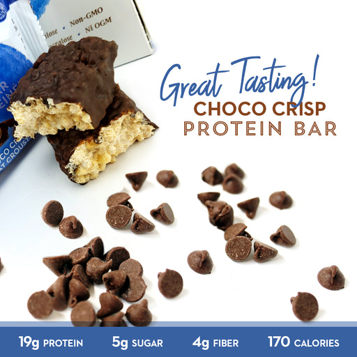 Low Sugar Choco Crisp Protein Bars 12 Ct