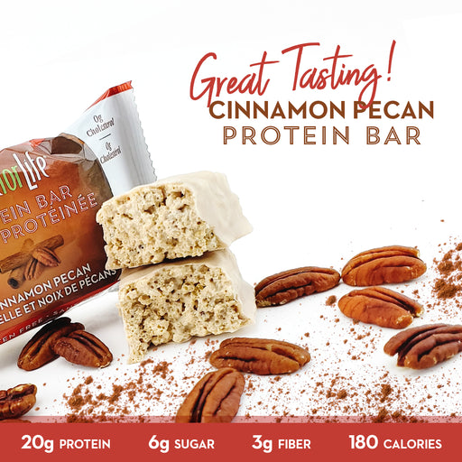 Low Sugar Cinnamon Pecan Protein Bars 12 Ct