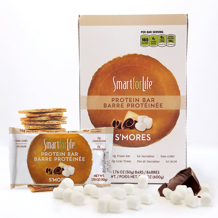 Low Sugar S'mores Protein Bars 12 Ct