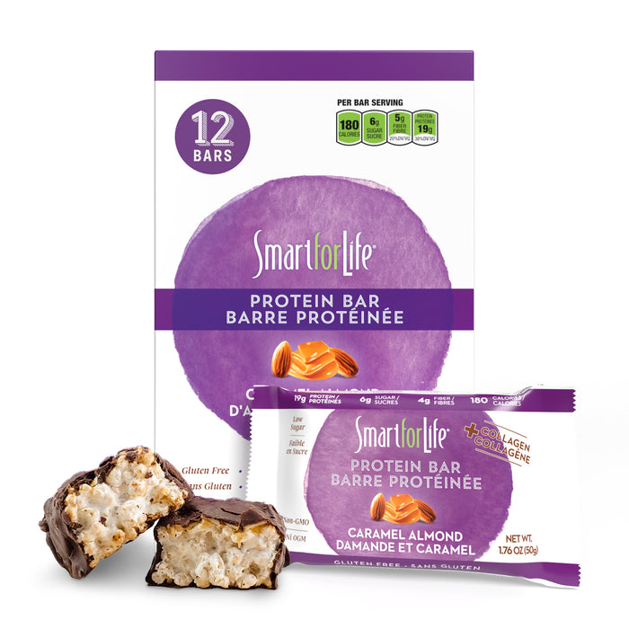 Low Sugar Caramel Almond Protein Bars 12 Ct