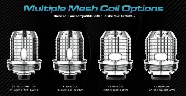 Freemax Fireluke Mesh Replacement Coil Head- 5/pack