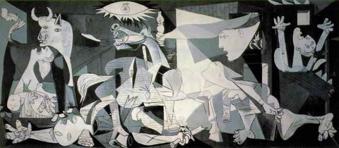 Pablo Picasso, Guernica, 1937. Oil on canvas, dimensions: 349.3 x 776.6 cm. Museo Nacional Centro de Arte Reina Sofia, register number DE00050.