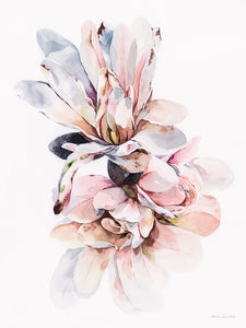"""Peonies"" By Media Jamshidi, Watercolor On Paper"