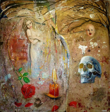 Memento Mori by Mark Charles Rooney, Mixed Media on Wood