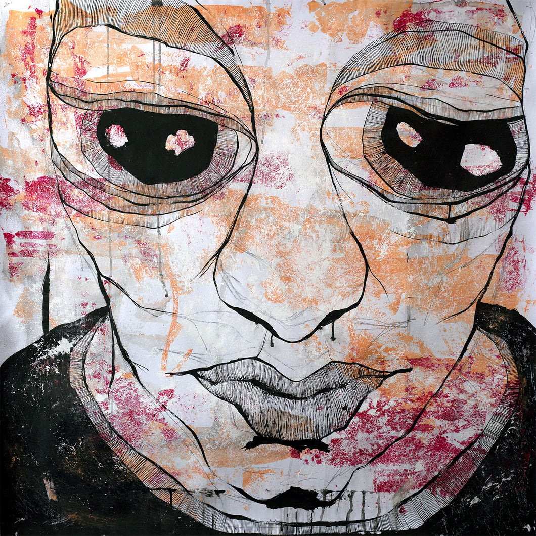 Thinking by Daniel Maresma, Acrylic and Ink on Paper