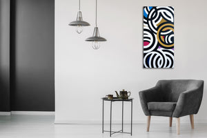 A Tiger Among Zebras by Mitchell Liner, Latex on Canvas