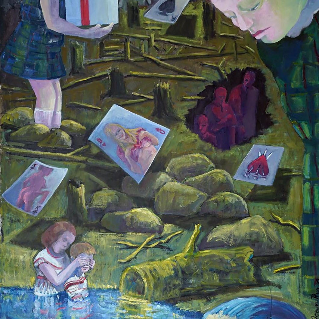 The Package by Joan Ryan, Oil on Paper