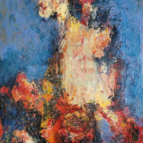 Playing Chicken by Norman Liebman, Oil on Canvas