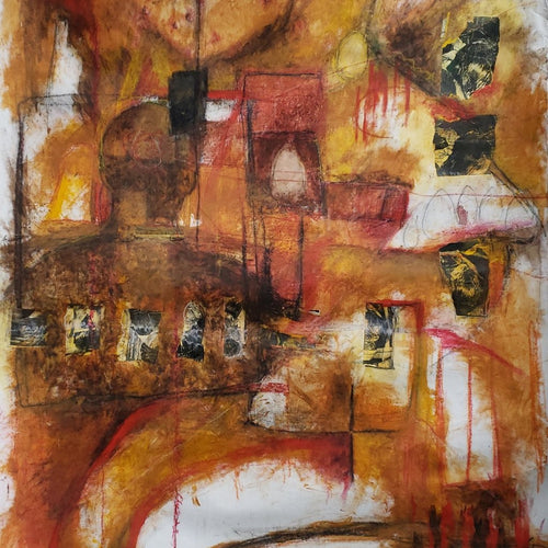 Telepathic by Stephane Desgroseilliers, Mixed Media on Canvas