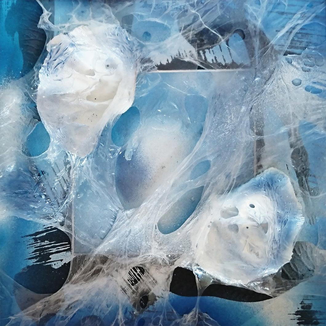 Plastic Kills...The Sea Suffocates in Plastic by Petra Dippold Gotz, Mixed Media on Paper (Framed)