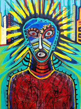 The Warrior by Julio Sanchez, Mixed Media on Canvas