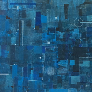 Blue Dreams by Oguz Yalim, Mixed Media on Canvas