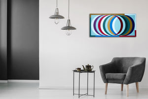 Tubular by Mitchell Liner, Latex on Canvas
