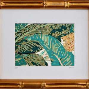 Palm Jungle III by Brittany Ford, Thermographic Embossing and Gouache Paint