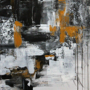 """Gold in the City"" by Karin Lundberg, Acrylic on Canvas"