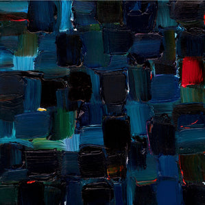 Indigo Night by John Kneapler, Acrylic on Stretched Canvas
