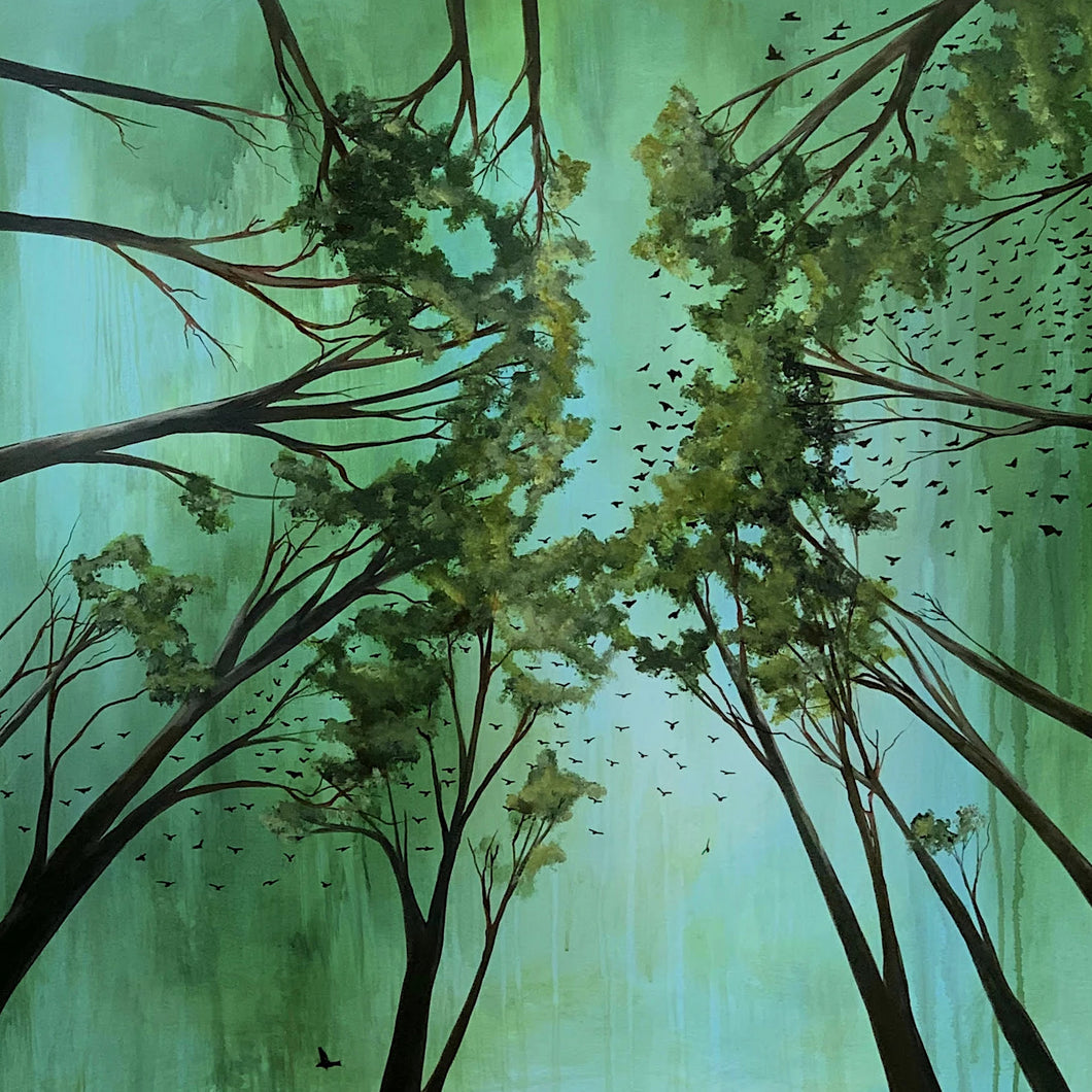 Among the Canopy by Nancy Joyce, Oil and Acrylic on Wood