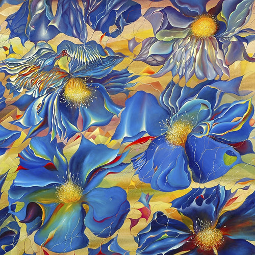 Blue Waltz by Tatiyana Kraevskaya, Oil on Canvas