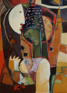 Pre-Oedipal by Ira Simidchieva, Oil on Canvas
