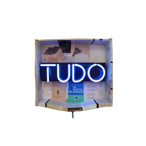 Tudo by Alexandra Prieto, Mixed Media on Wood